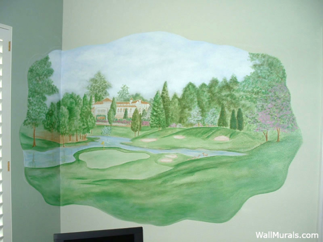 Golf Wall Mural in Home Office
