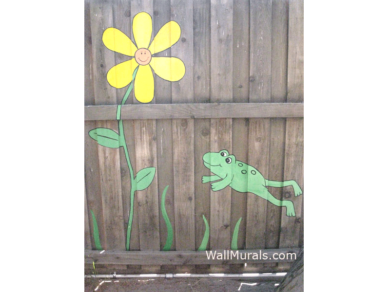 Painted Fence Mural - School Playground