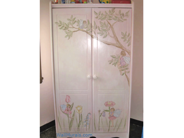 Painted Mural on Armoire
