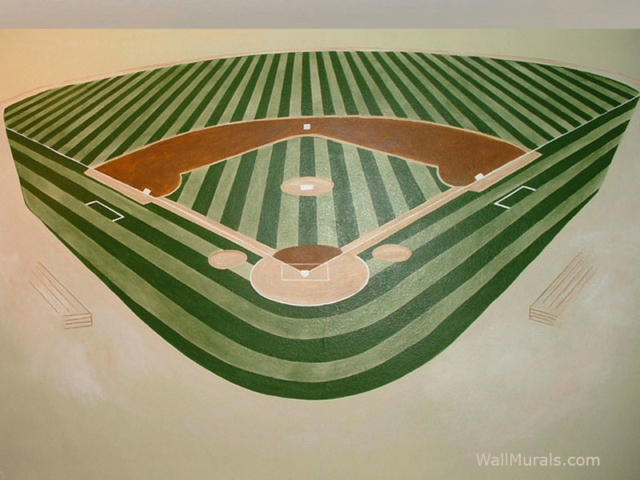 Baseball Diamond Wall Mural