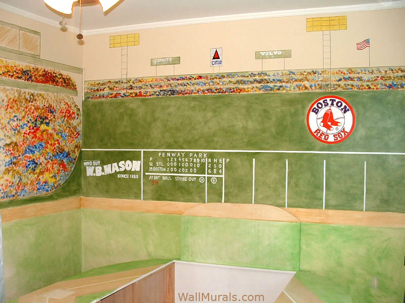 Sports wall murals examples of sports muralswall murals for Baseball wall mural