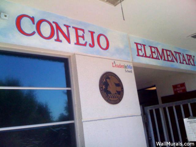 Elementary School Mural -  School Name on Entry
