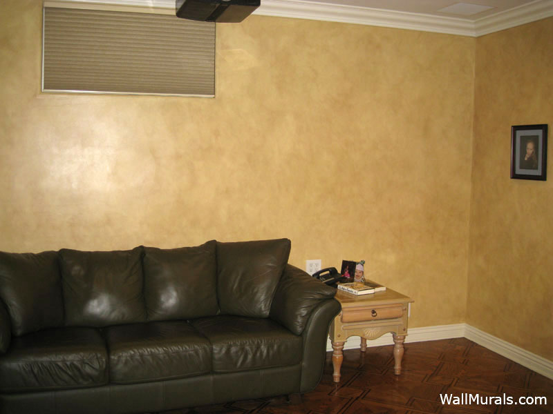 Faux Family Room Walls