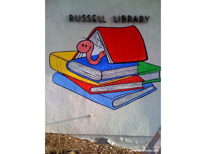 School Library Wall Mural