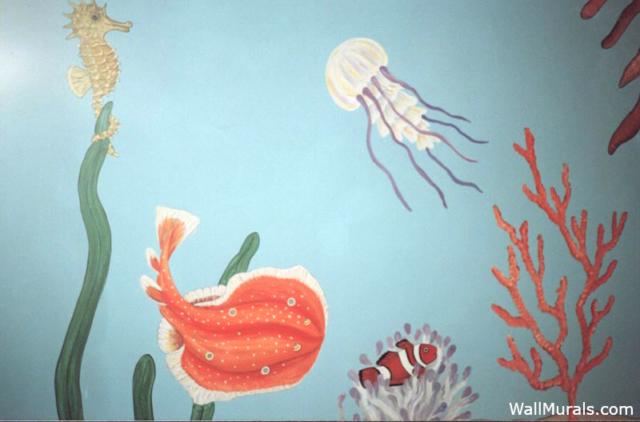 Mural in Bathroom - Under the Sea Mural
