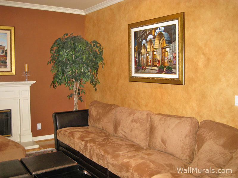 Faux wall finishes examples of hand painted wall treatmentswall murals by colette for What paint finish for living room