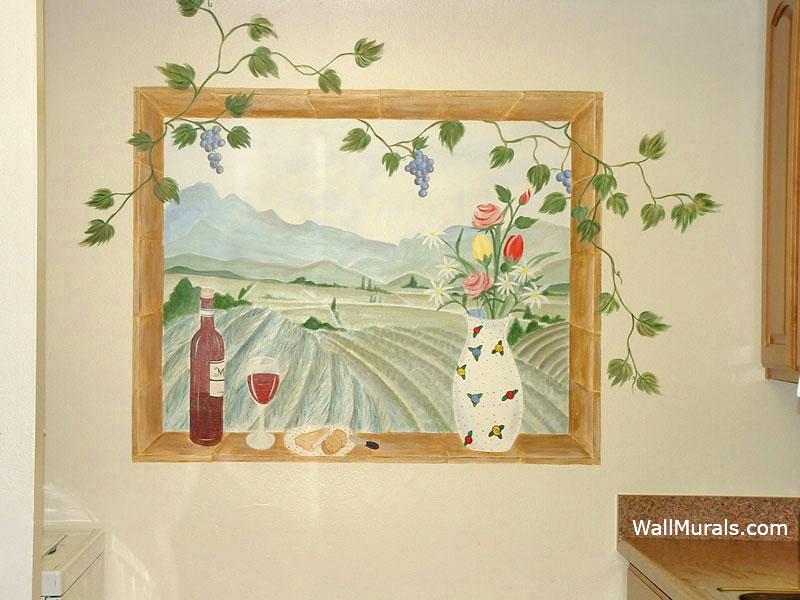 Painted Window Mural