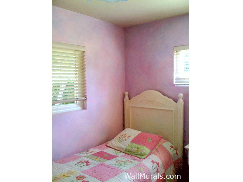 Faux Blended Walls - Girls Bedroom - Pink, Purple, Blue