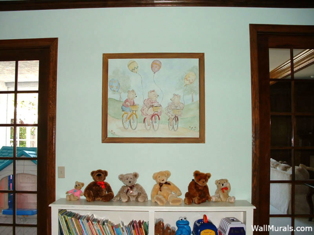 Mural in Playroom - Teddy Bear Mural