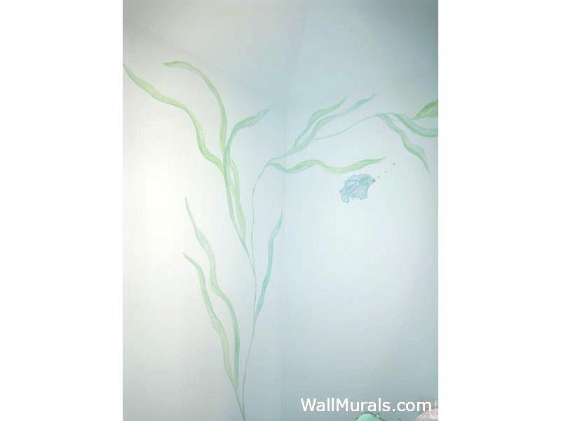 Ocean Seaweed Mural