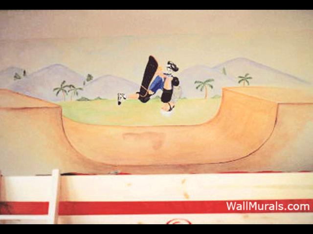 Skateboarding Wall Mural