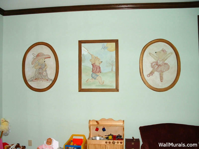 Playroom Teddy Bear Wall Mural