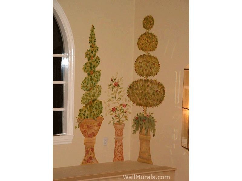 Topiary Tree Wall Mural