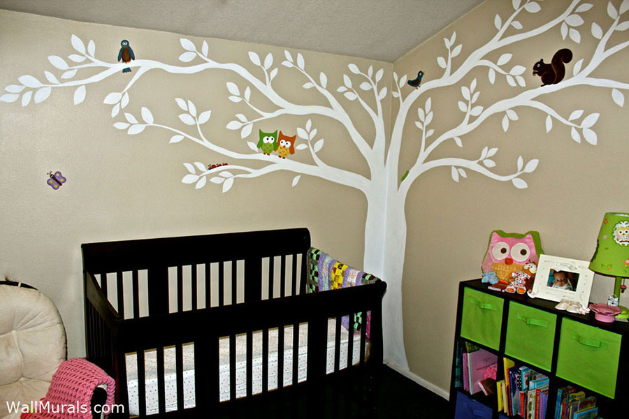 Tree Wall Murals 50 Hand painted Tree Wall Mural ExamplesWall