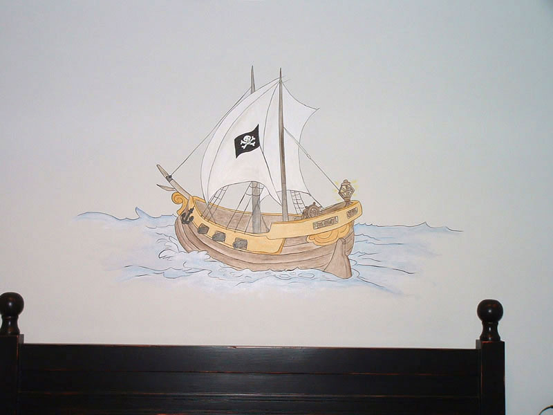 Pirate Ship Wall Mural