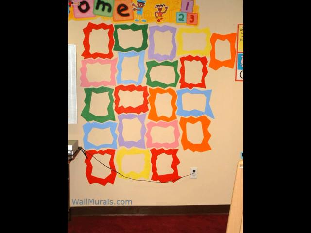 Preschool Wall Mural - Painted Frames for Kids Art