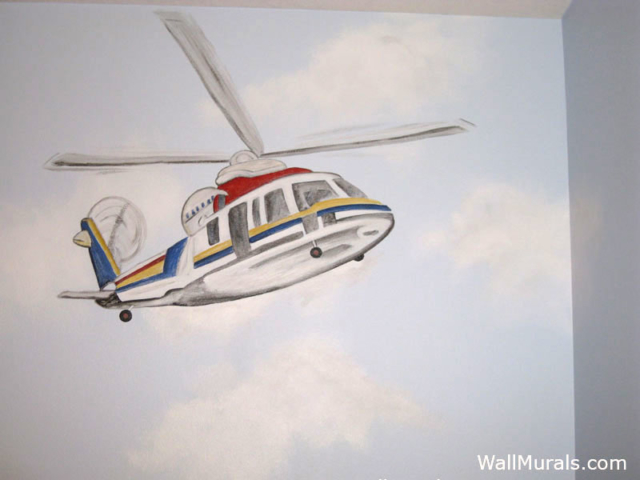 Rescue Helicopter Mural