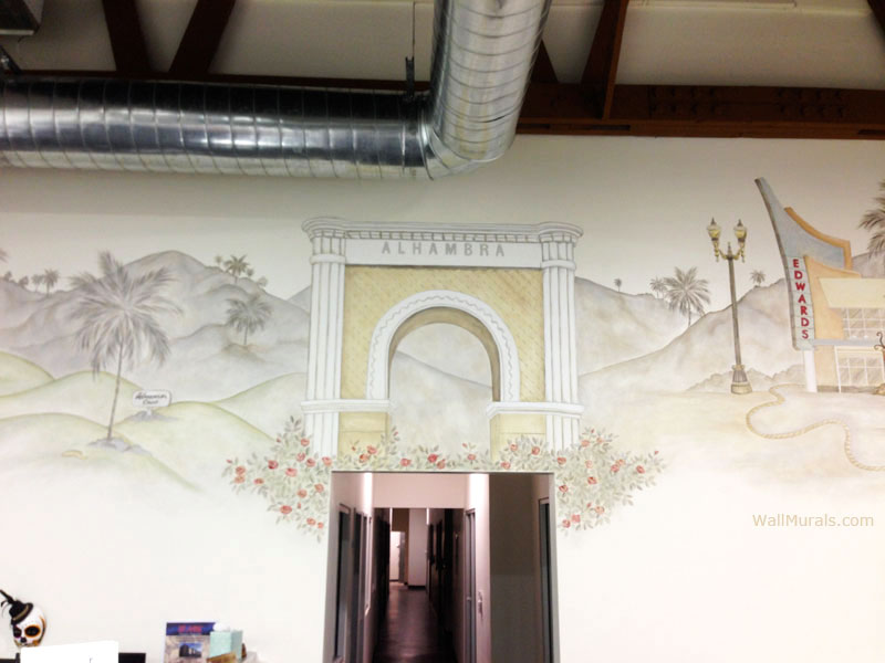 Alhambra Arch Mural in Real Estate Office