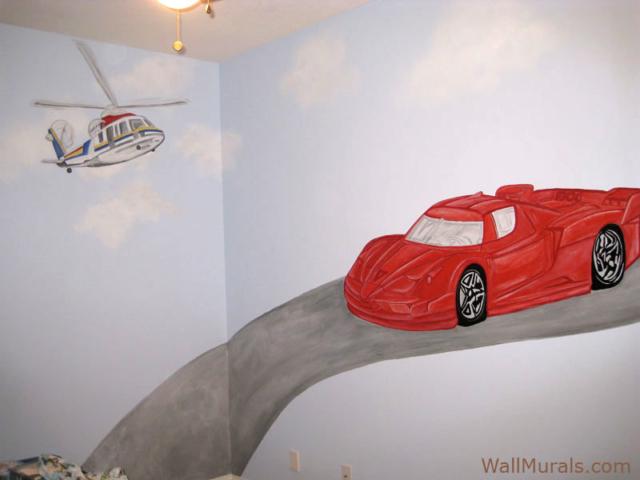 Ferrari Wall Mural