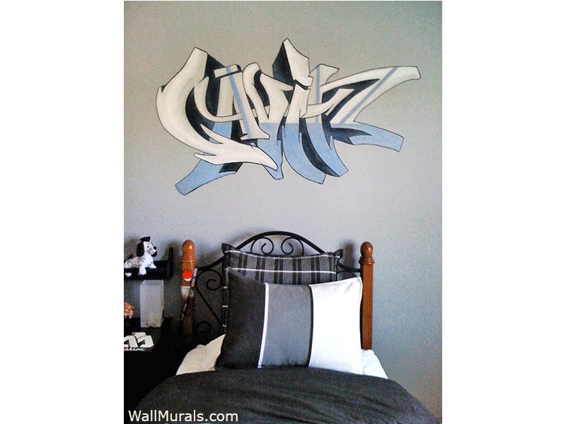 Gavin Graffiti Wall Mural