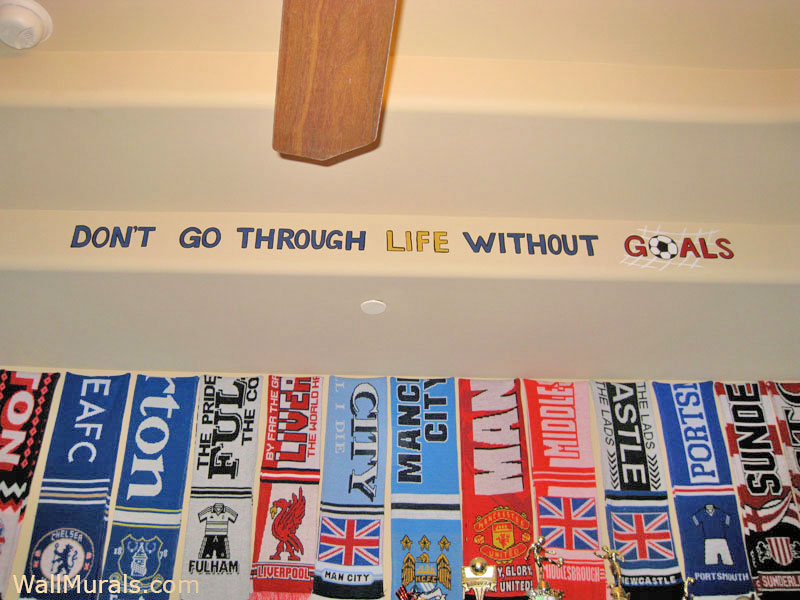 Painted Soccer Quote on Wall