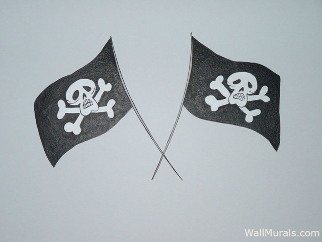 Pirate Flag Wall Mural