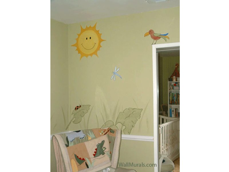 Jungle Theme Mural in Nursery