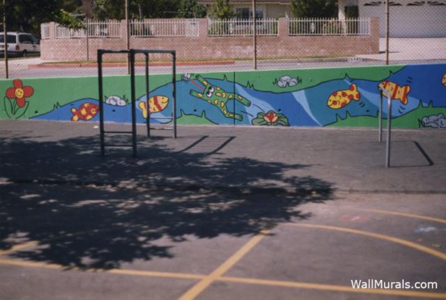 Elementary School -  Playground Wall Mural