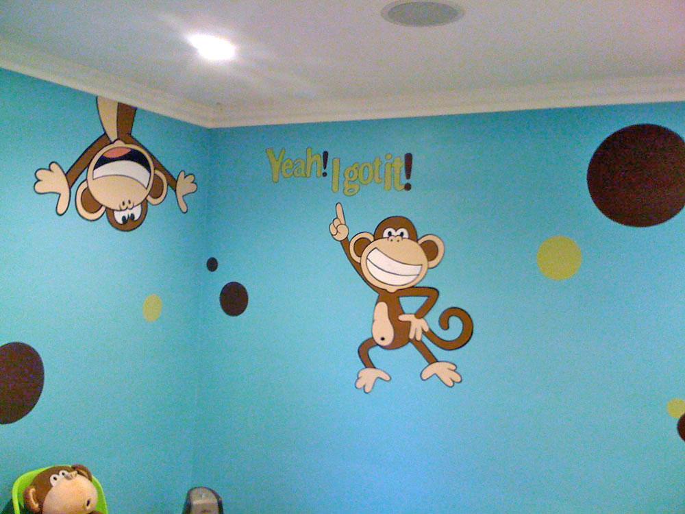 Teen Wall Mural - Cartoon Monkey Mural