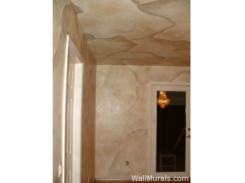 Faux Dining Room Walls