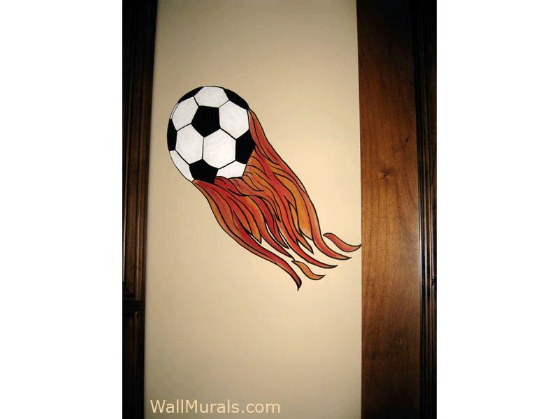 Flames on Soccer Ball
