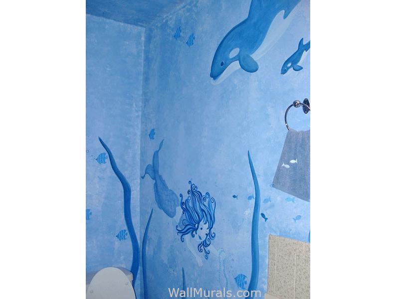 Undersea Wall Mural in Bathroom