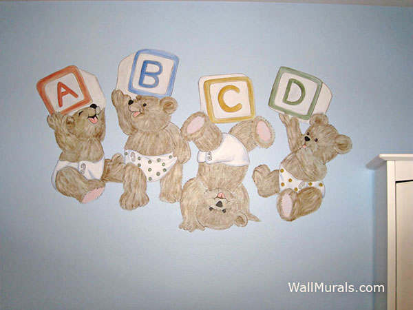 ABC Teddy Bear Wall Mural