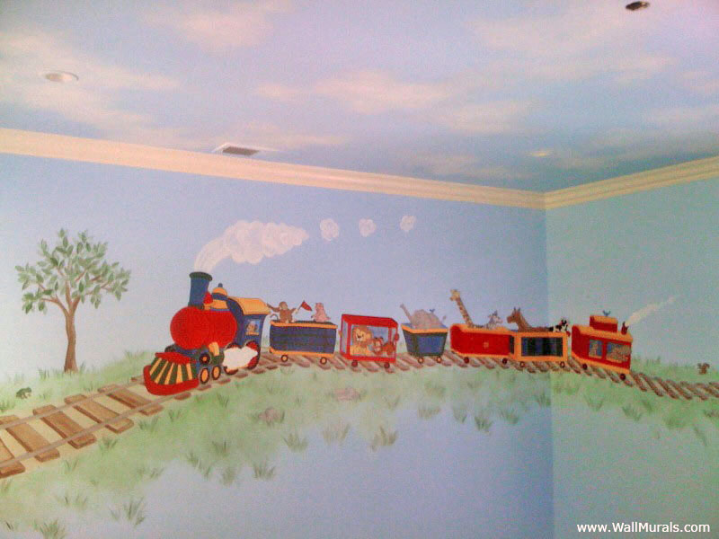 Transportation wall murals examples of transportation for Examples of mural painting