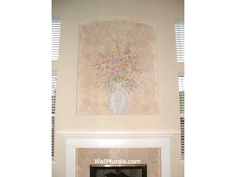 Painted Mural above Fireplace