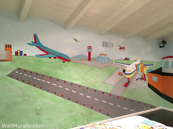 Mural in Playroom - Airport Runway