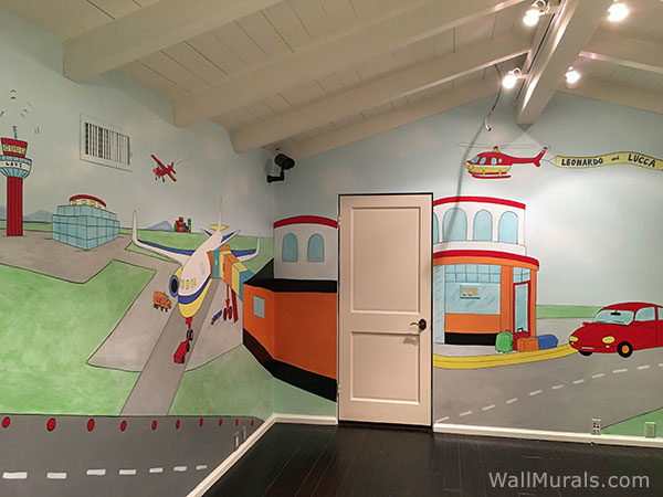 Playroom Wall Mural - Airport