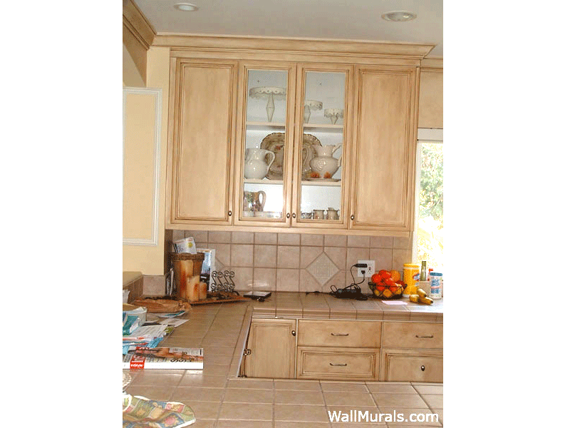 Antique Rubbed Kitchen Cabinets