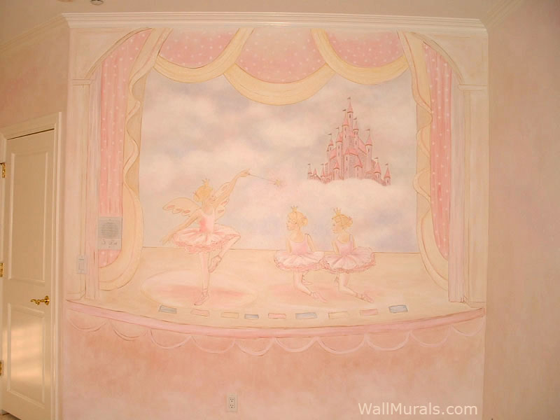 Castle Mural with Ballerinas