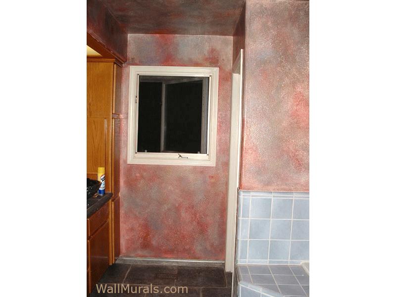 Faux Finished Bathroom Walls