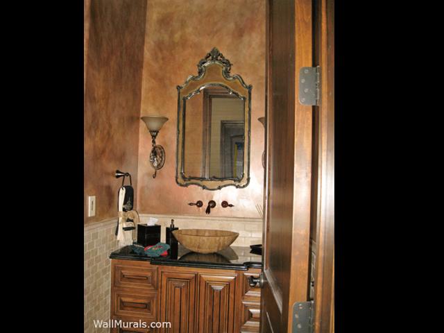 Brown Faux Bathroom Mural