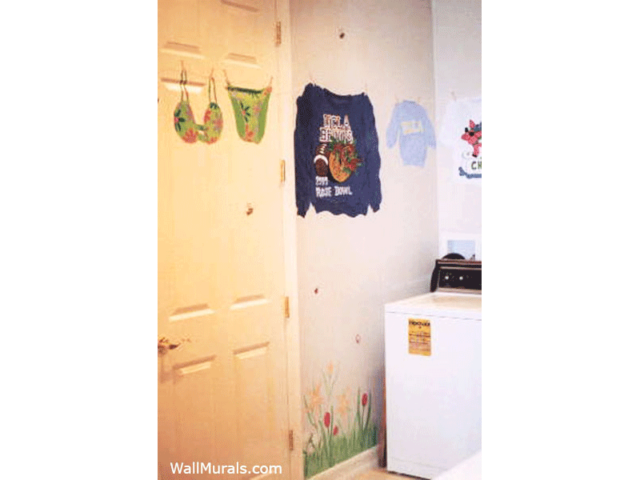 Laundry Room Wall Mural