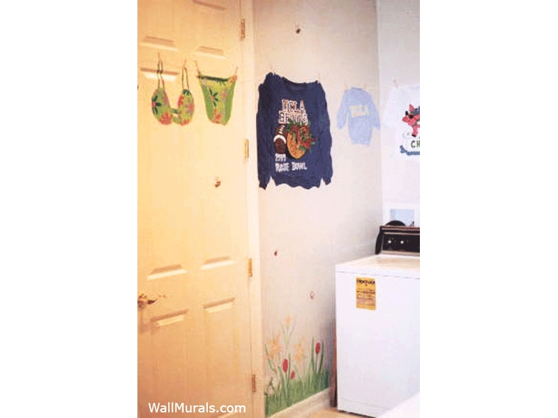 Laundry Room Wall Murals