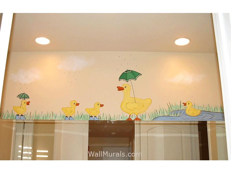 Duck Mural in Bathroom