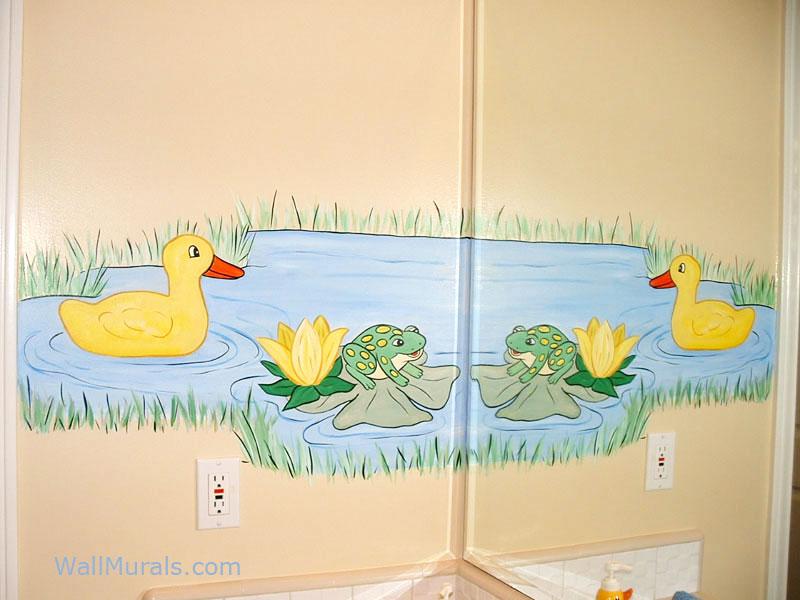 Pond Mural in Bathroom