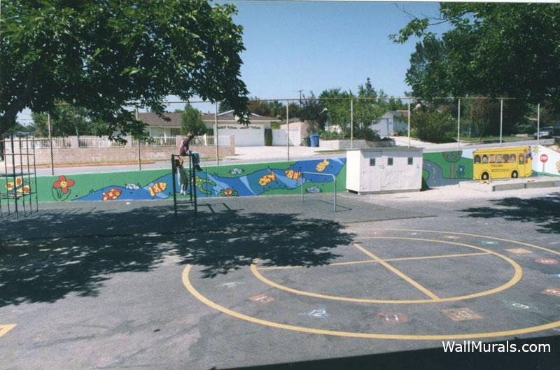 Elementary School Mural on Playground