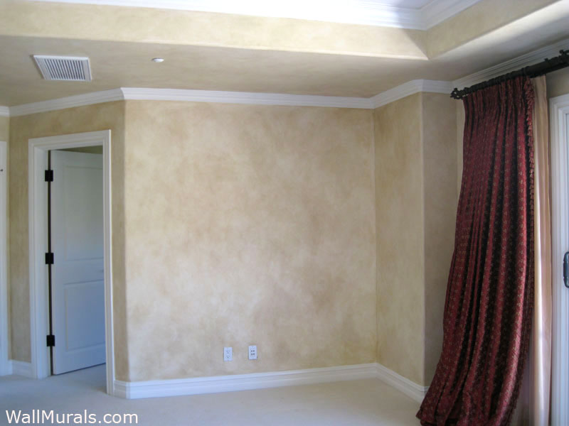 Faux Finished Walls in Master Bedroom