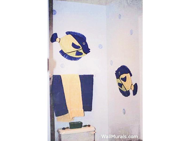 Fish Mural in Bathroom