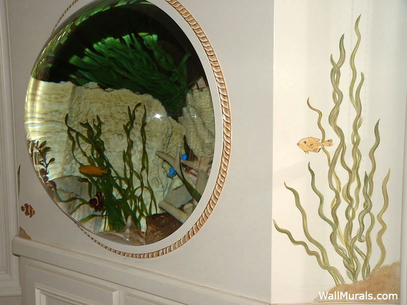 Painted Custom Fish Tank Mural