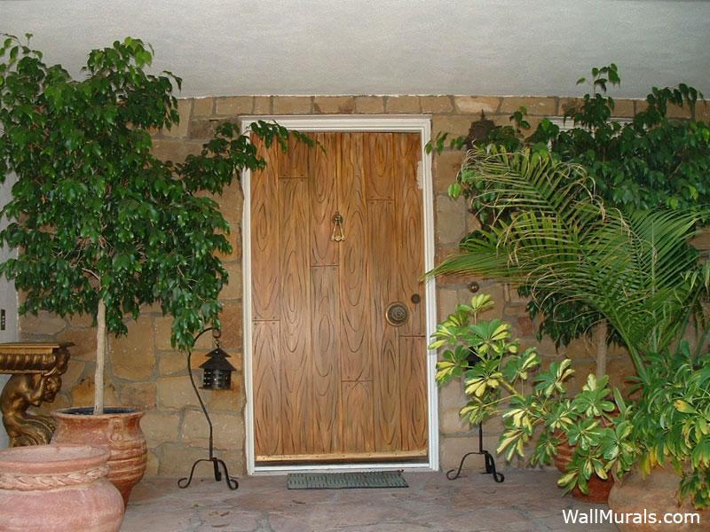 Painted Front Door to Look Like Wood